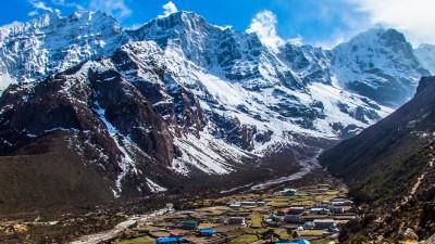 Pohled na vesnici Thame